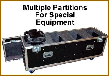 multiple partitions for special equipment