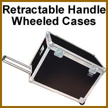 retractable handle wheeled storage cases